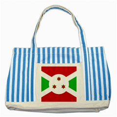 Flag Of Burundi Striped Blue Tote Bag