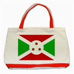 Flag Of Burundi Classic Tote Bag (red)