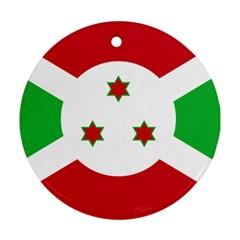 Flag Of Burundi Round Ornament (two Sides)