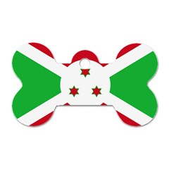 Flag Of Burundi Dog Tag Bone (one Side)