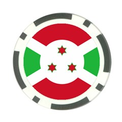 Flag Of Burundi Poker Chip Card Guard (10 Pack)