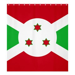Flag Of Burundi Shower Curtain 66  X 72  (large)