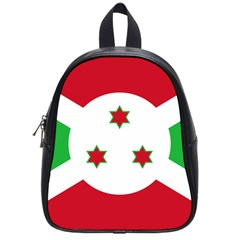 Flag Of Burundi School Bag (small) by abbeyz71
