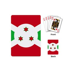 Flag Of Burundi Playing Cards (mini)