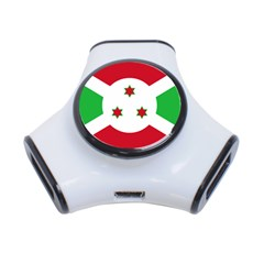 Flag Of Burundi 3 Port Usb Hub