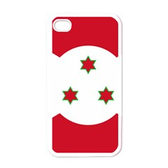 Flag Of Burundi Apple Iphone 4 Case (white)