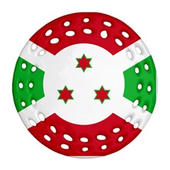 Flag Of Burundi Ornament (round Filigree)