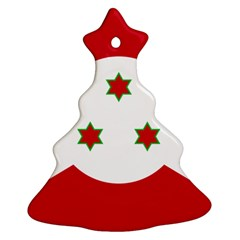 Flag Of Burundi Christmas Tree Ornament (two Sides)