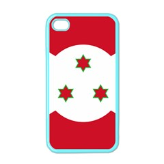 Flag Of Burundi Apple Iphone 4 Case (color)