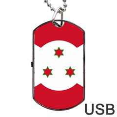 Flag Of Burundi Dog Tag Usb Flash (two Sides)