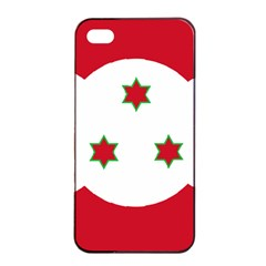 Flag Of Burundi Apple Iphone 4/4s Seamless Case (black)