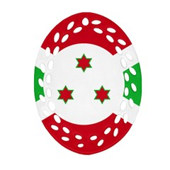 Flag Of Burundi Oval Filigree Ornament (two Sides)