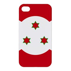 Flag Of Burundi Apple Iphone 4/4s Premium Hardshell Case
