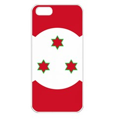 Flag Of Burundi Apple Iphone 5 Seamless Case (white)