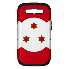 Flag Of Burundi Samsung Galaxy S Iii Hardshell Case (pc+silicone)