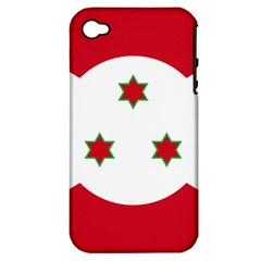 Flag Of Burundi Apple Iphone 4/4s Hardshell Case (pc+silicone)