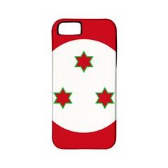Flag Of Burundi Apple Iphone 5 Classic Hardshell Case (pc+silicone)