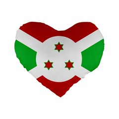 Flag Of Burundi Standard 16  Premium Heart Shape Cushions