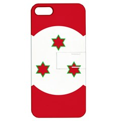 Flag Of Burundi Apple Iphone 5 Hardshell Case With Stand