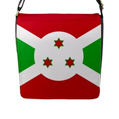 Flag Of Burundi Flap Messenger Bag (l)