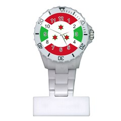 Flag Of Burundi Plastic Nurses Watch
