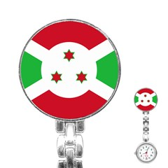 Flag Of Burundi Stainless Steel Nurses Watch