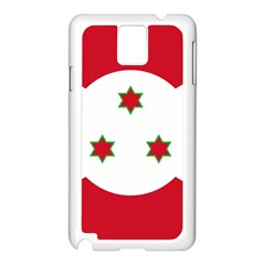 Flag Of Burundi Samsung Galaxy Note 3 N9005 Case (white)