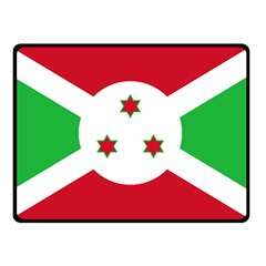 Flag Of Burundi Double Sided Fleece Blanket (small)