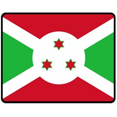 Flag Of Burundi Double Sided Fleece Blanket (medium)