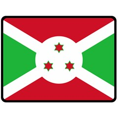 Flag Of Burundi Double Sided Fleece Blanket (large)