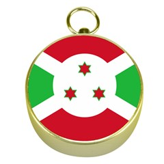 Flag Of Burundi Gold Compasses