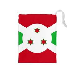 Flag Of Burundi Drawstring Pouches (medium)