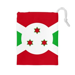 Flag Of Burundi Drawstring Pouches (large)