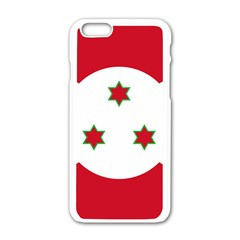Flag Of Burundi Apple Iphone 6/6s White Enamel Case