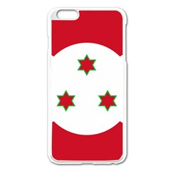 Flag Of Burundi Apple Iphone 6 Plus/6s Plus Enamel White Case