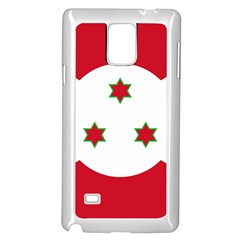 Flag Of Burundi Samsung Galaxy Note 4 Case (white)