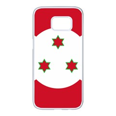 Flag Of Burundi Samsung Galaxy S7 Edge White Seamless Case