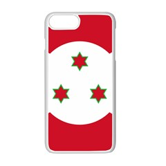 Flag Of Burundi Apple Iphone 7 Plus Seamless Case (white)