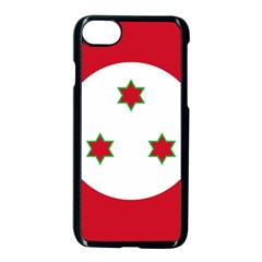Flag Of Burundi Apple Iphone 7 Seamless Case (black)