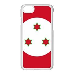 Flag Of Burundi Apple Iphone 8 Seamless Case (white)
