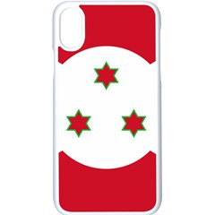 Flag Of Burundi Apple Iphone X Seamless Case (white)