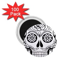 Sugar Skull 1 75  Magnets (100 Pack)