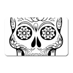Sugar Skull Magnet (rectangular)