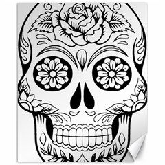 Sugar Skull Canvas 16  X 20
