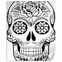 Sugar Skull Canvas 11  X 14   by sherylchapmanphotography
