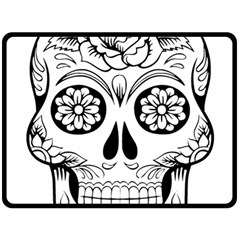 Sugar Skull Fleece Blanket (large)  by sherylchapmanphotography