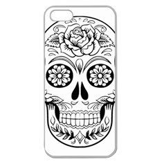 Sugar Skull Apple Seamless Iphone 5 Case (clear)