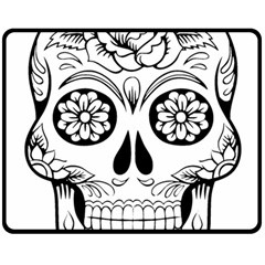 Sugar Skull Double Sided Fleece Blanket (medium)