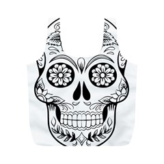 Sugar Skull Full Print Recycle Bags (m)