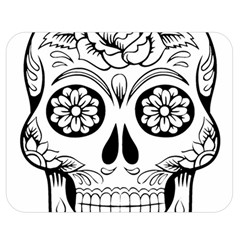 Sugar Skull Double Sided Flano Blanket (medium)